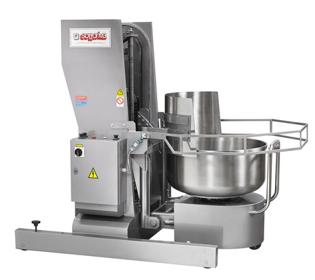 SC Machine which lifts a bowl and pours out the dough